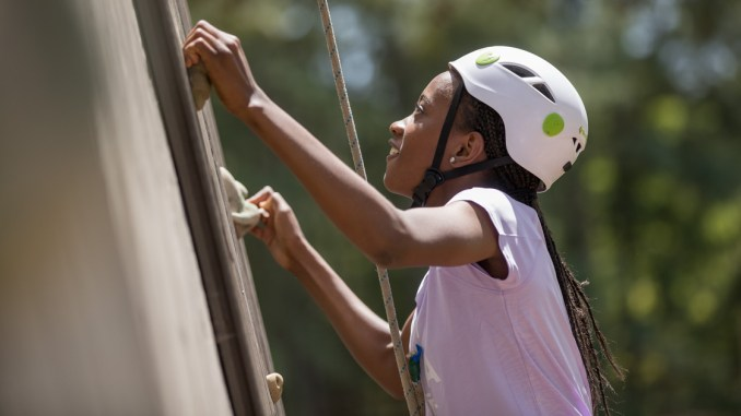 Scouts-BSA-girl-climbing